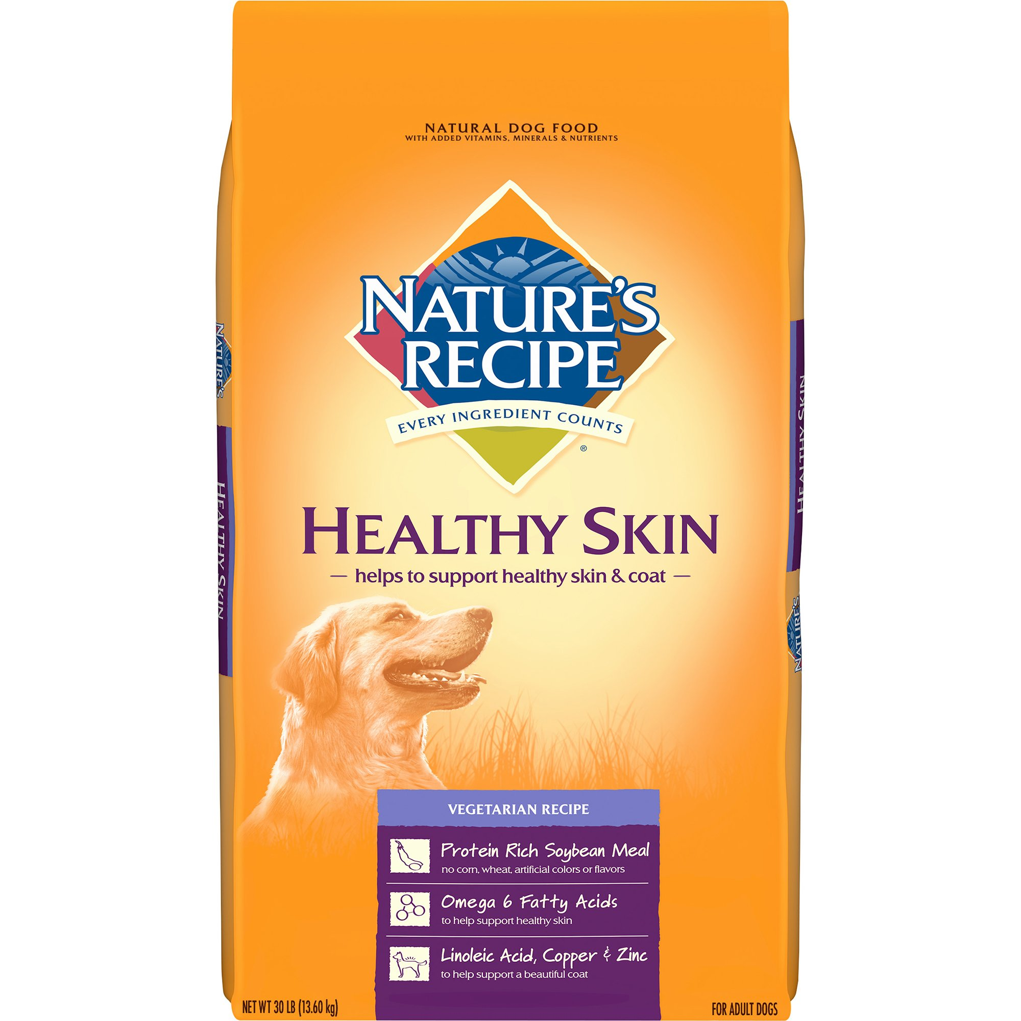 Nature's Recipe Healthy Skin Vegetarian Recipe Adult Dog Food