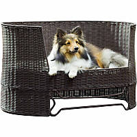 The Refined Canine Outdoor Dog Day Bed in Espresso