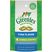 Feline Greenies Smartbites Tuna Flavored Hairball Control Cat Treats