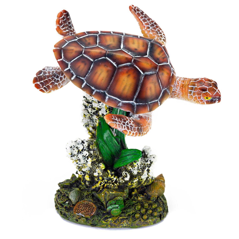 Penn Plax Sea Turtle Aquarium Ornament