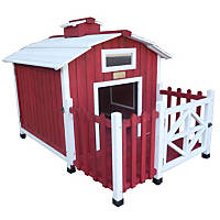 Advantek Country Barn Red Wooden Dog House