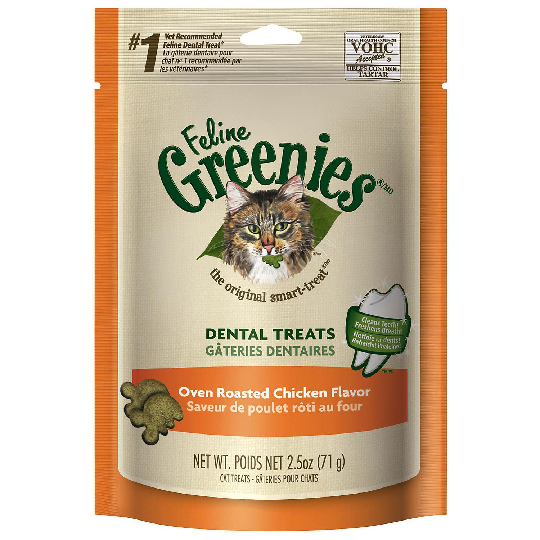 Feline Greenies Oven Roasted Chicken Cat Treats 2.5 Oz.