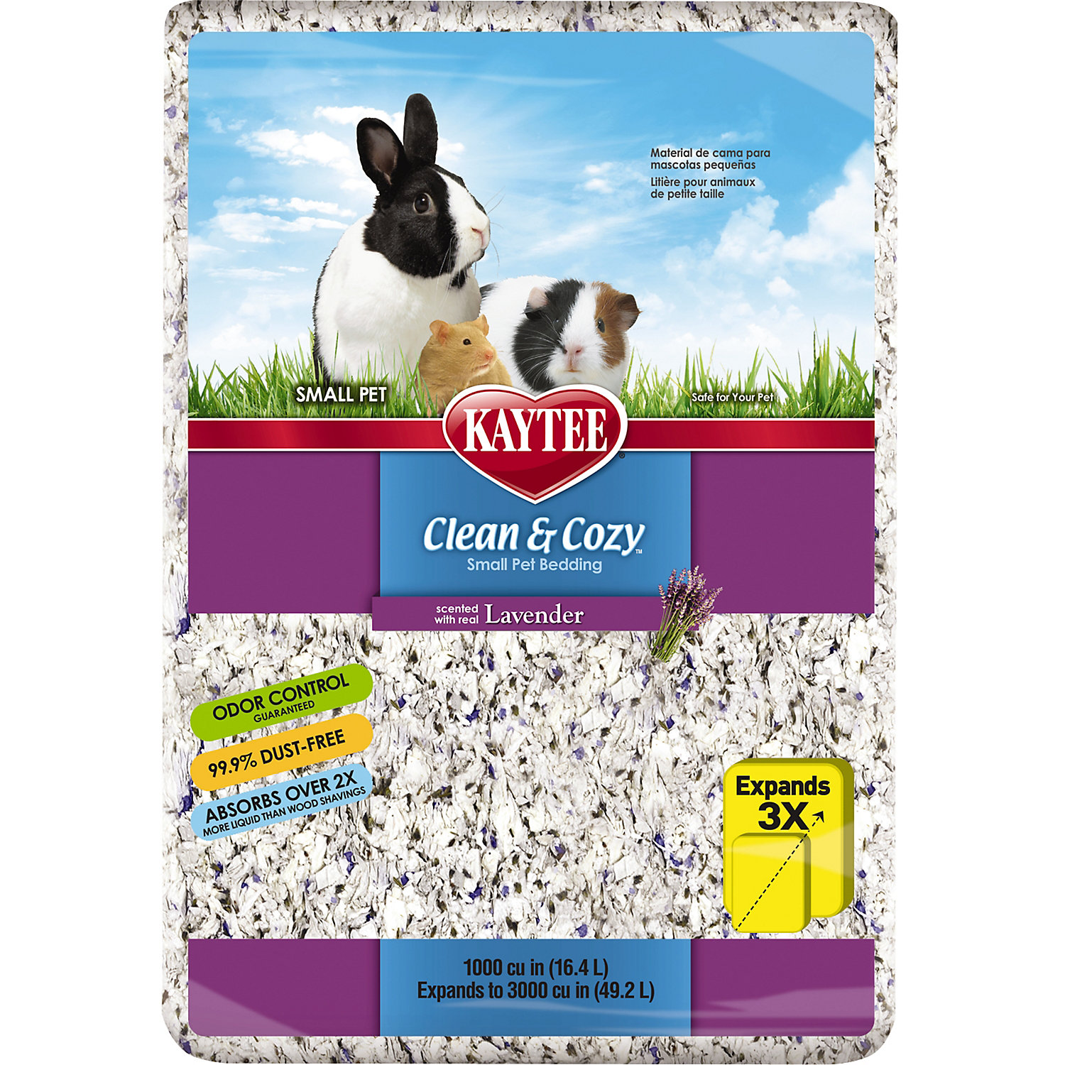 Kaytee Clean Cozy Lavender Scented Small Animal Bedding 1000 Cu. In.