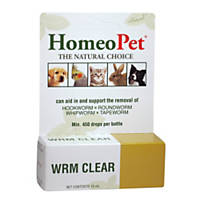 HomeoPet Wrm Clear Drops for Dogs