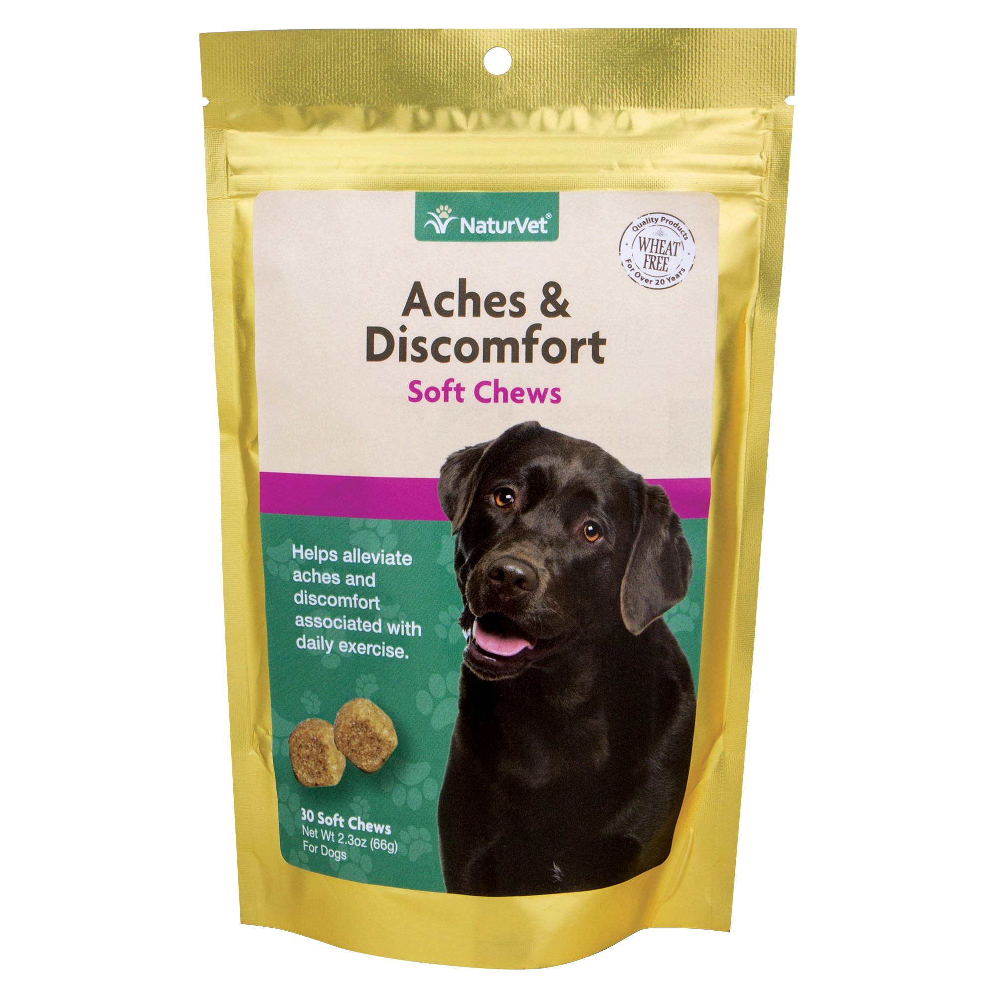 NaturVet Aches & Discomfort Hip & Joint Health Soft Chews for Dogs