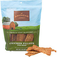American Jerky Skin & Coat Support Chicken Fillets Dog Treats