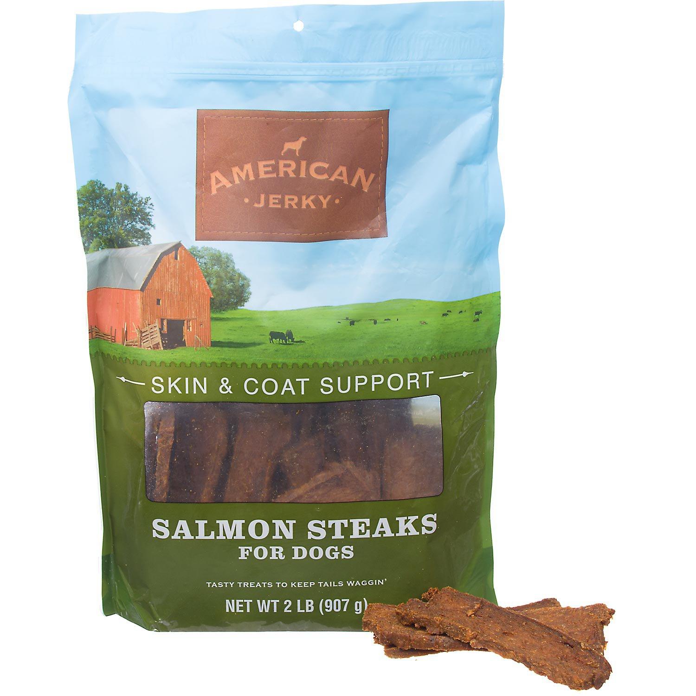 American Jerky Skin & Coat Support Salmon Steaks Dog Treats