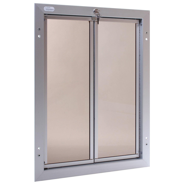 Plexidor Door Mount Pet Door in Silver