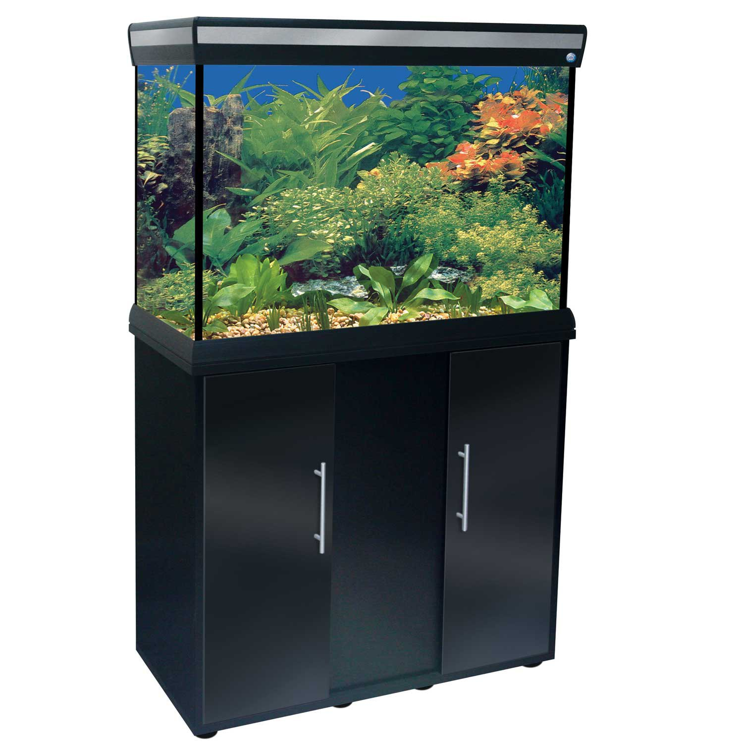 Penn Plax Delta Queen Rectangular Aquarium and Stand