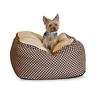K&H Cuddle Cube Dog Bed in Brown
