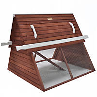 Advantek The Chalet Poultry Hutch in Auburn & White