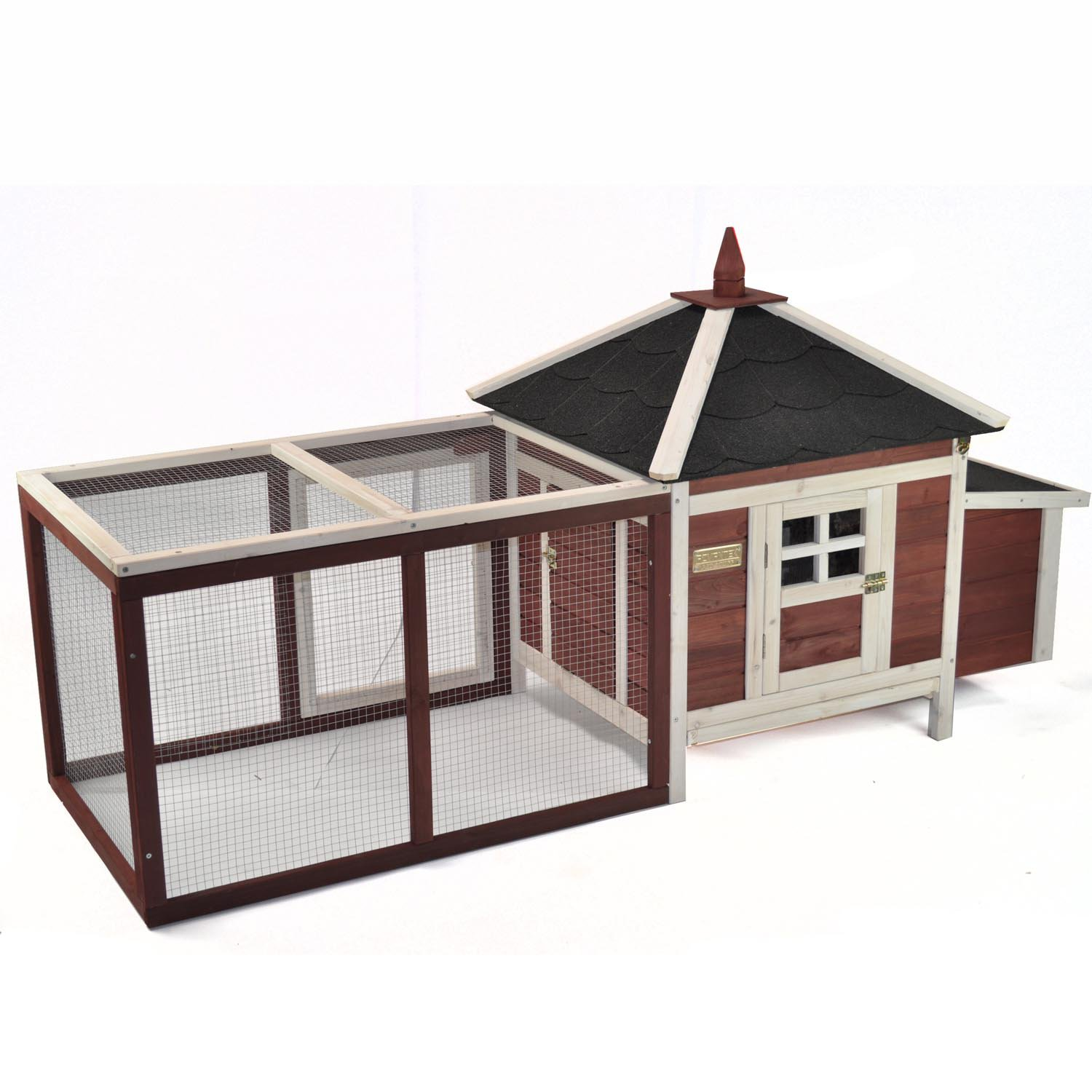 Advantek The Prairie Home Poultry Hutch in Auburn & White