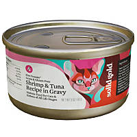 Solid Gold Grain Free Shrimp & Tuna in Gravy Canned Cat Food, 3 oz.