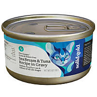 Solid Gold Grain Free Sea Bream & Tuna in Gravy Canned Cat Food, 3 oz.