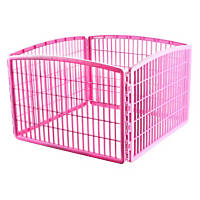 Iris Pink Four Panel Pet Containment and Exercise Pen without Door