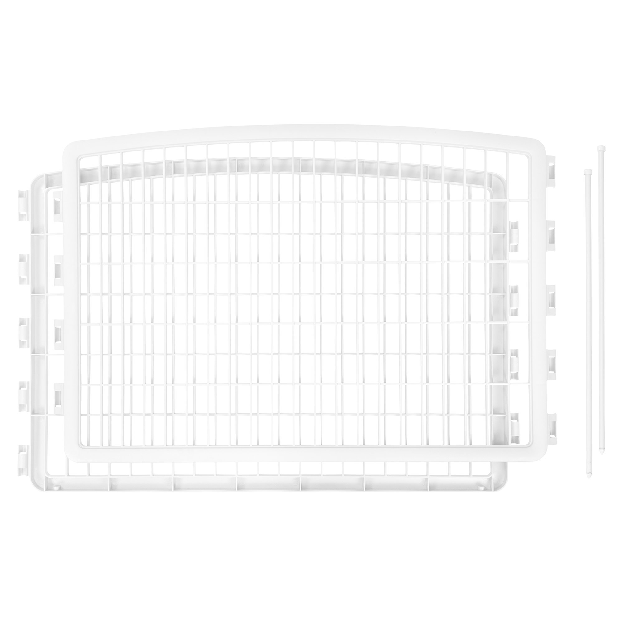 Iris White Two Panel Add On for Four Panel Containment and Exercise Pet Pen