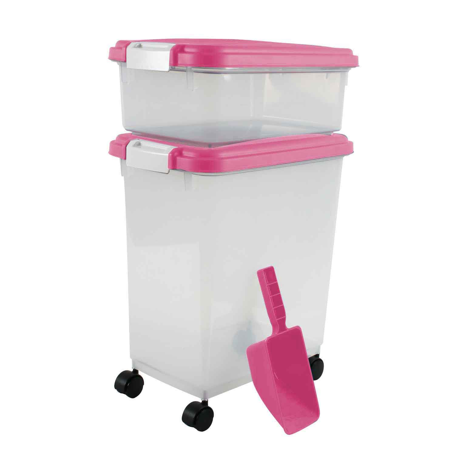 Iris Pink and Clear Airtight Three Piece Food Storage Combo