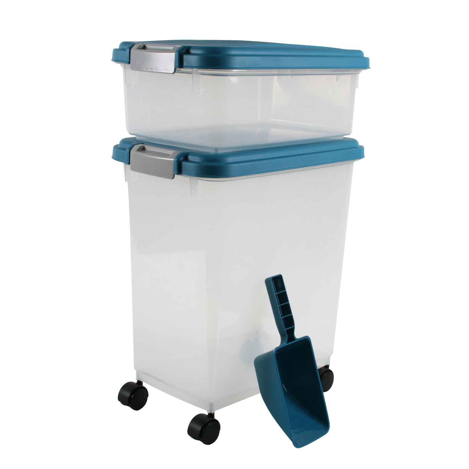Iris Blue Moon and Clear Airtight Three Piece Food Storage Combo