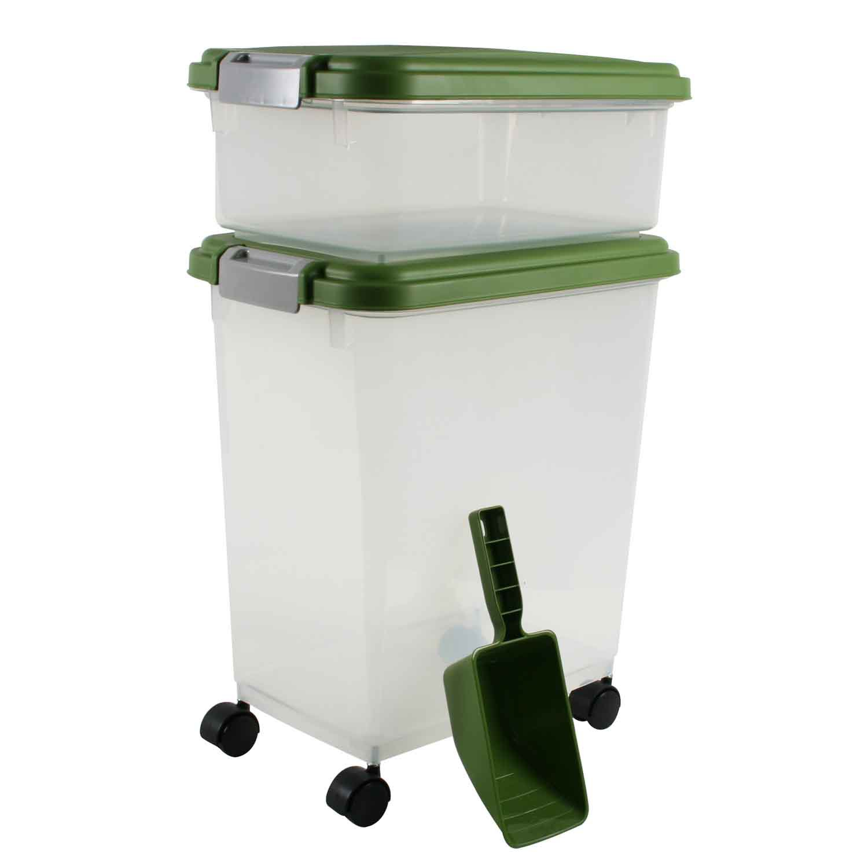 Iris Peridot and Clear Airtight Three Piece Food Storage Combo