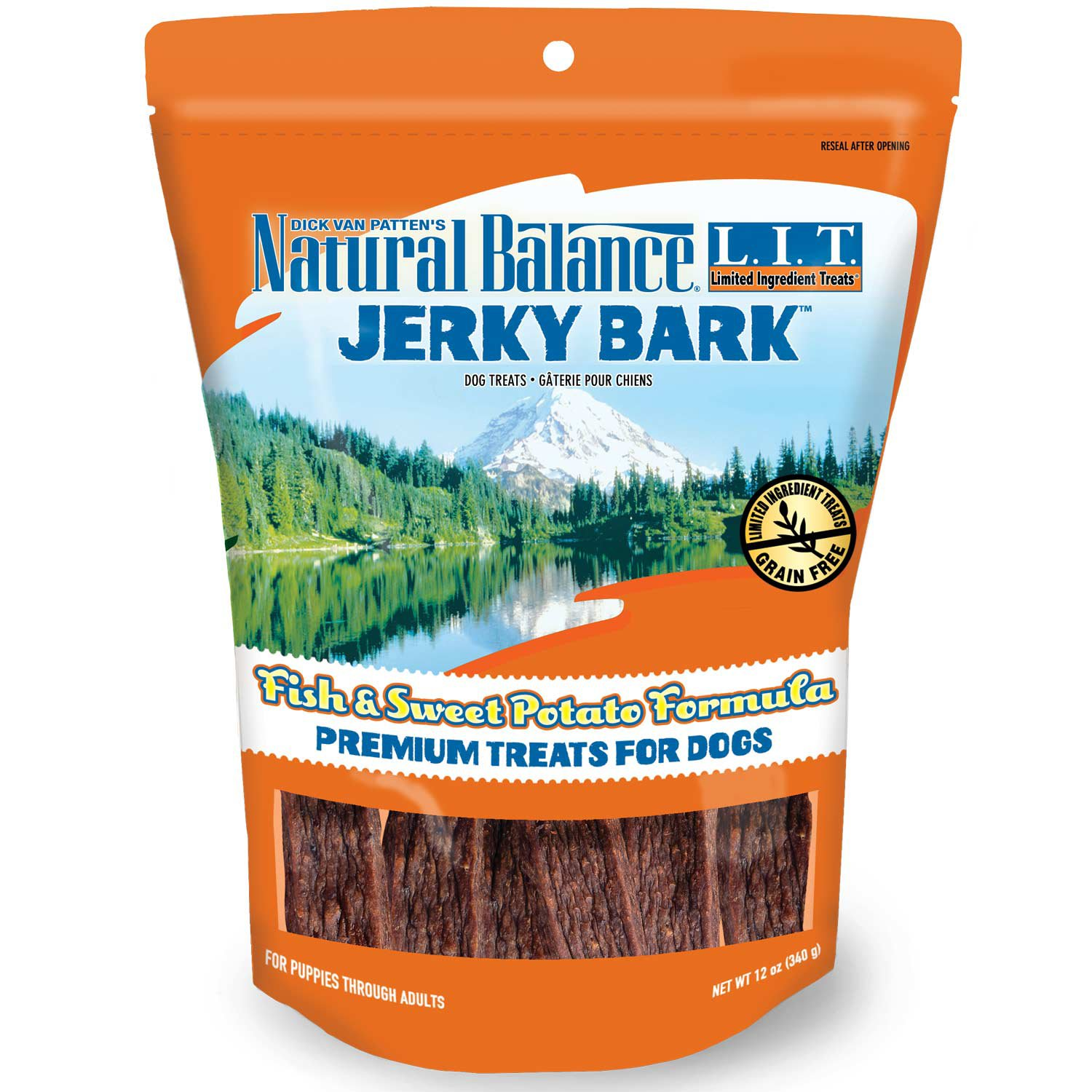 Natural Balance L.I.T. Limited Ingredient Treats Fish & Sweet Potato Jerky Bark