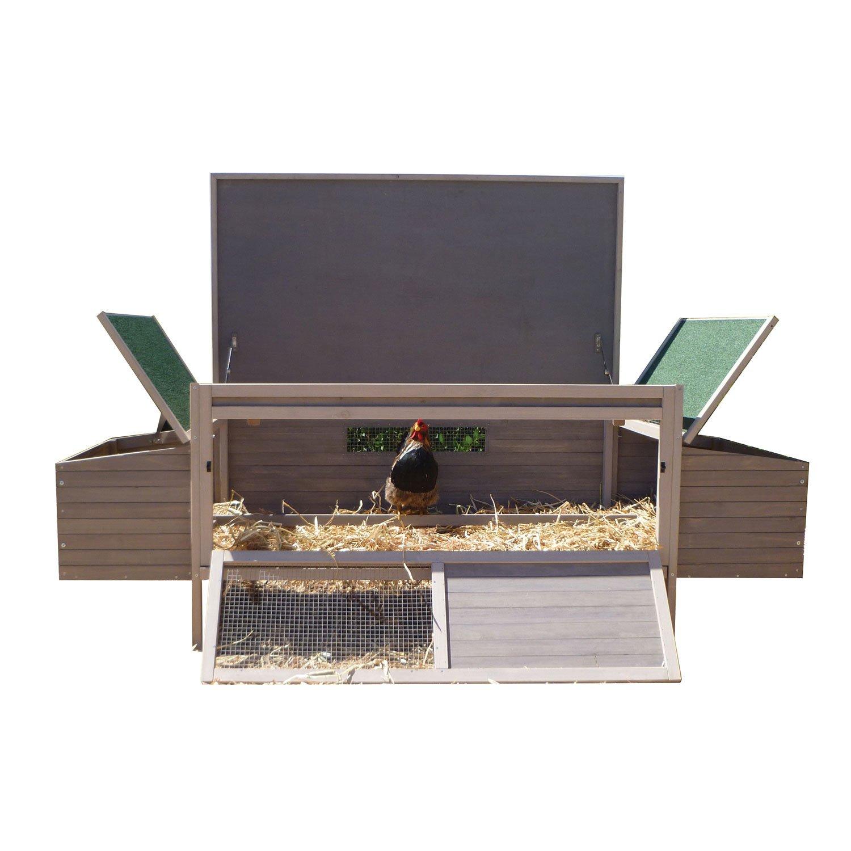 Precision Pet Hen Den Chicken Coop in Taupe & Off-White