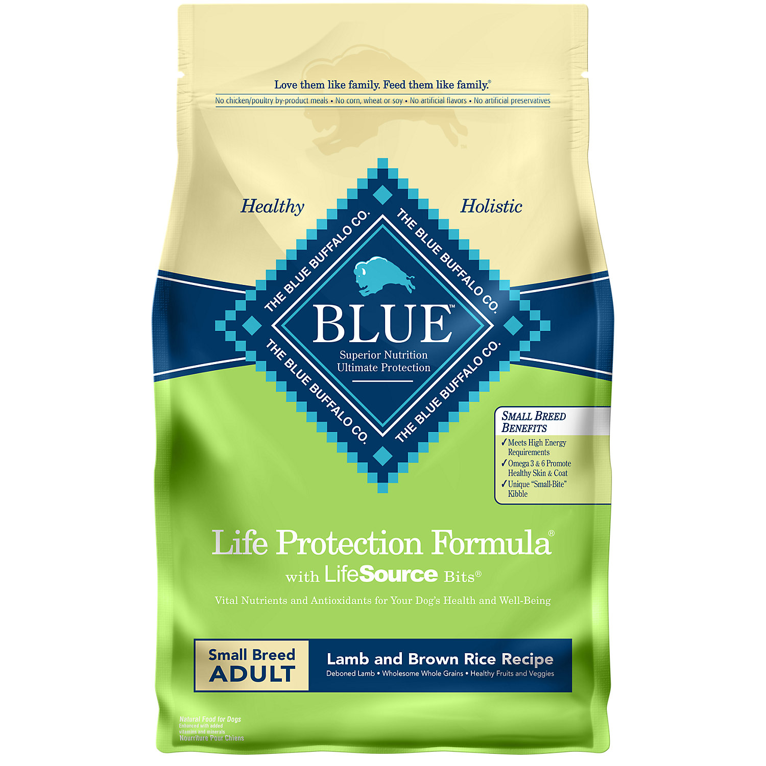 Blue Buffalo Small Breed Lamb & Brown Rice Adult Dry Dog Food, 6 lbs.