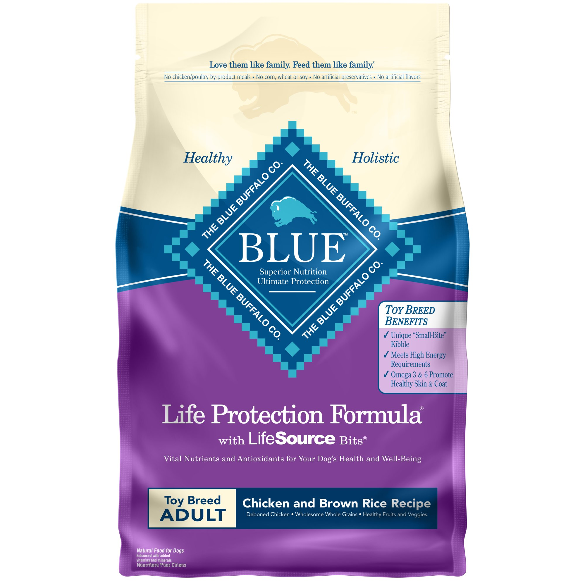 Blue Buffalo Toy Breed Life Protection Formula Chicken & Brown Rice Adult Dog Food