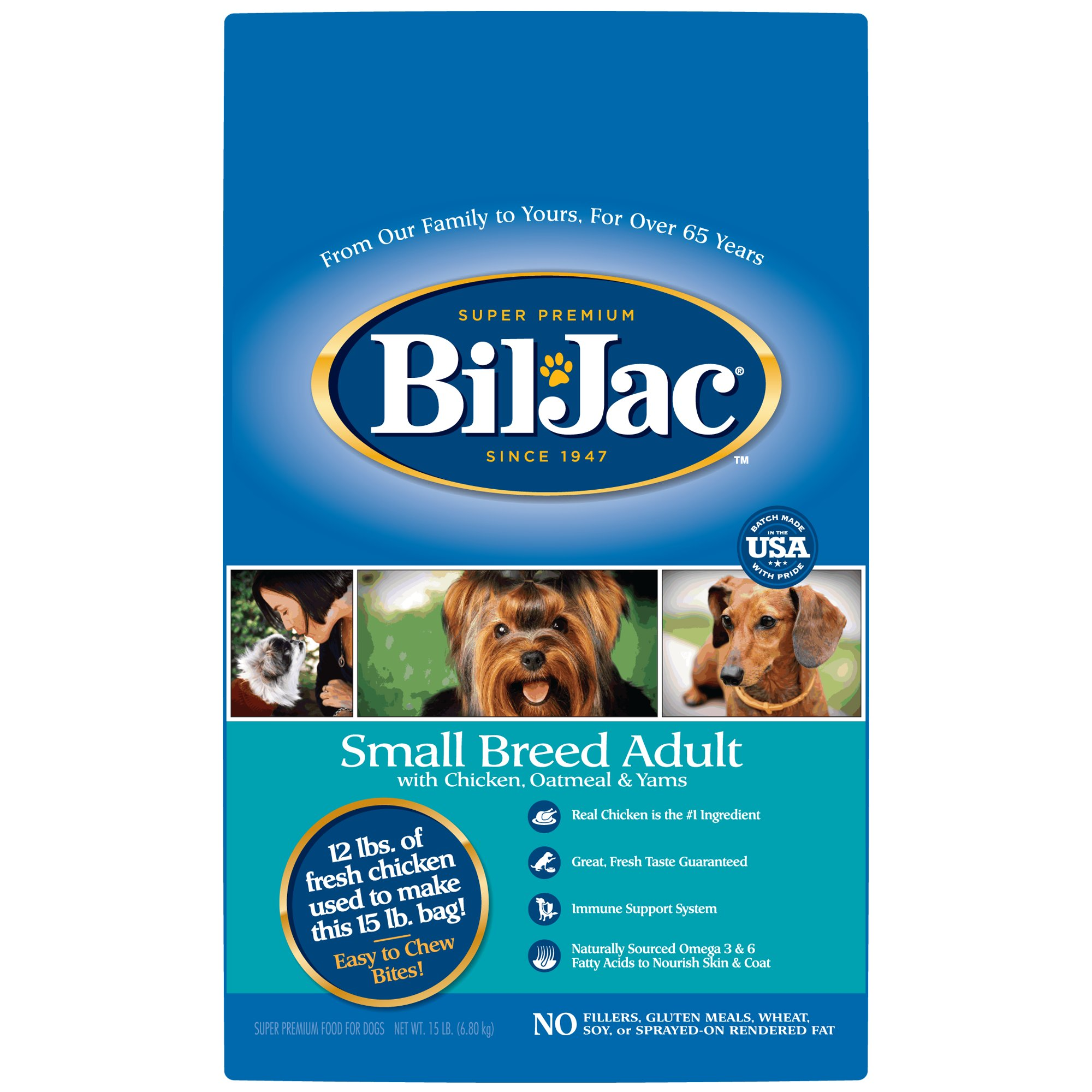 Bil-Jac Small Breed Adult Chicken Oatmeal & Yams Dry Dog Food