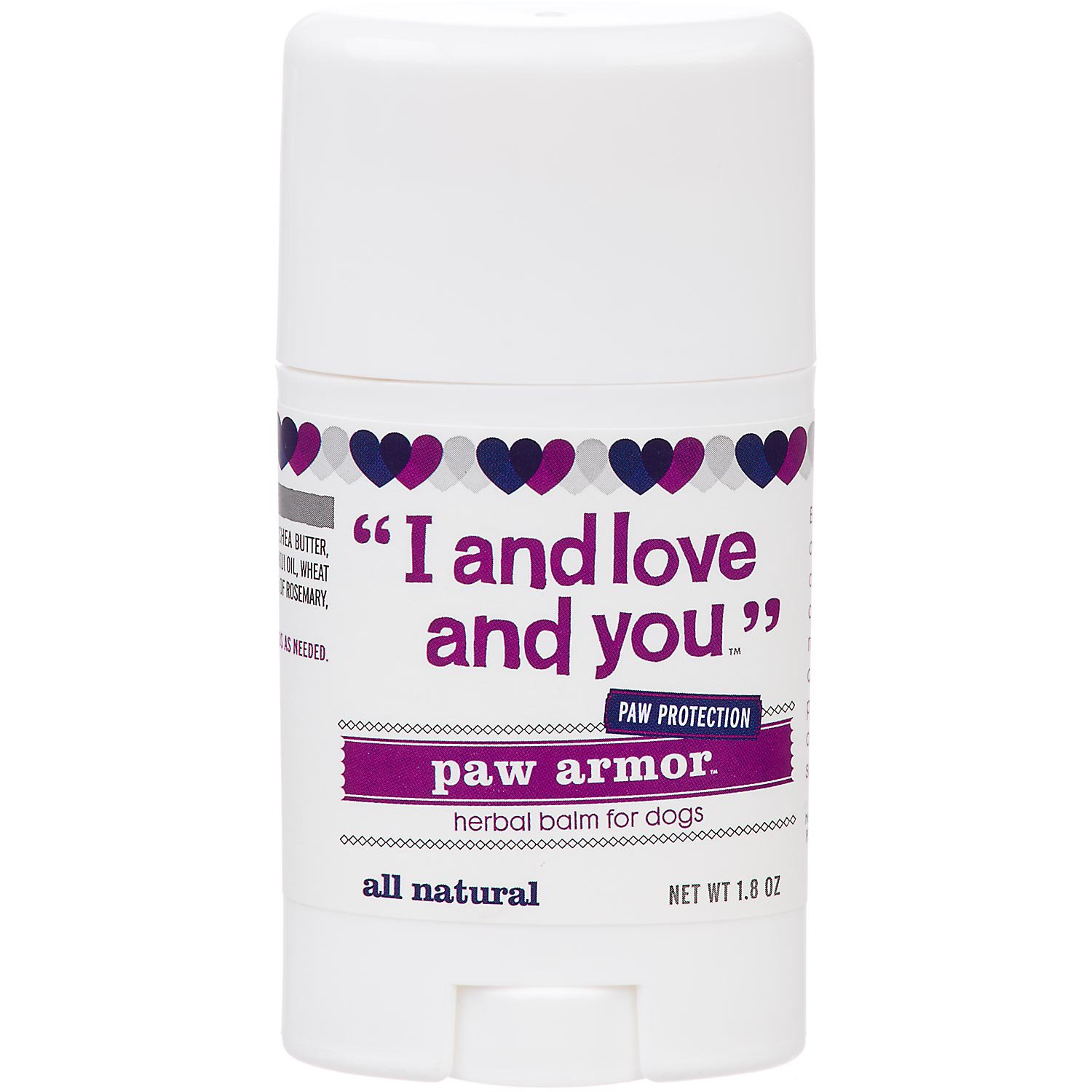 I and Love and You Paw Armor Pet Balm