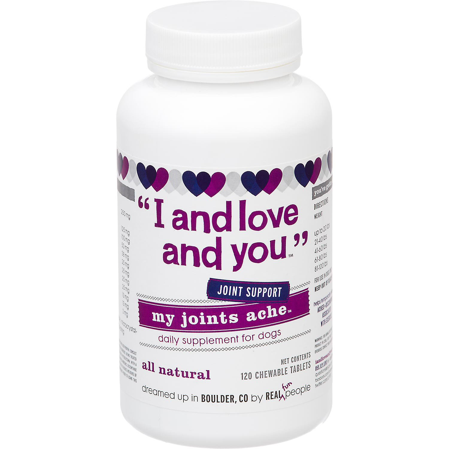 I and Love and You My Joints Ache Dog Supplement