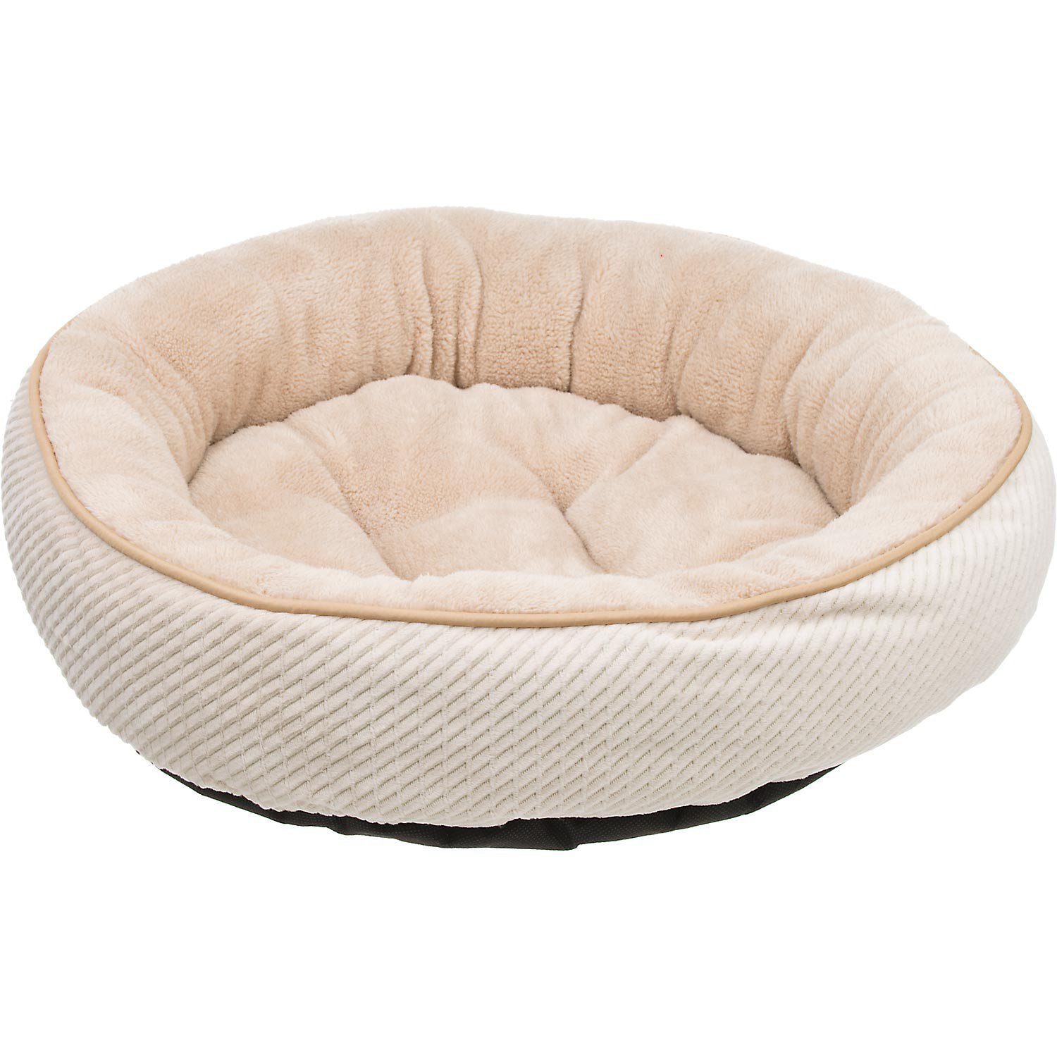 Petco Textured Round Cat Bed in Pearl