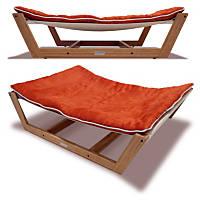 Pet Lounge Studios Bambu Nautical Hammock Pet Bed in Orange