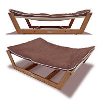 Pet Lounge Studios Bambu Nautical Hammock Pet Bed in Brown