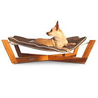 Pet Lounge Studios Bambu Cross Hammock Pet Bed in Brown