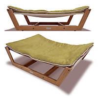 Pet Lounge Studios Bambu Nautical Hammock Pet Bed in Green