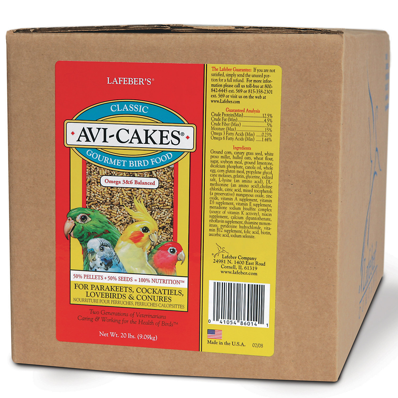 Lafeber's Original Flavor Avi-Cakes for Parakeets, Cockatiel