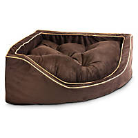 Snoozer Luxury Corner Bed in Hot Fudge with Cafe Cording