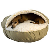 Snoozer Orthopedic Cozy Cave Pet Bed in Khaki & Cream