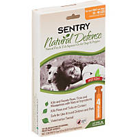 Sentry Natural Defense Flea & Tick Squeeze-On For Dogs & Puppies, For Pets 15 to 40 lbs.