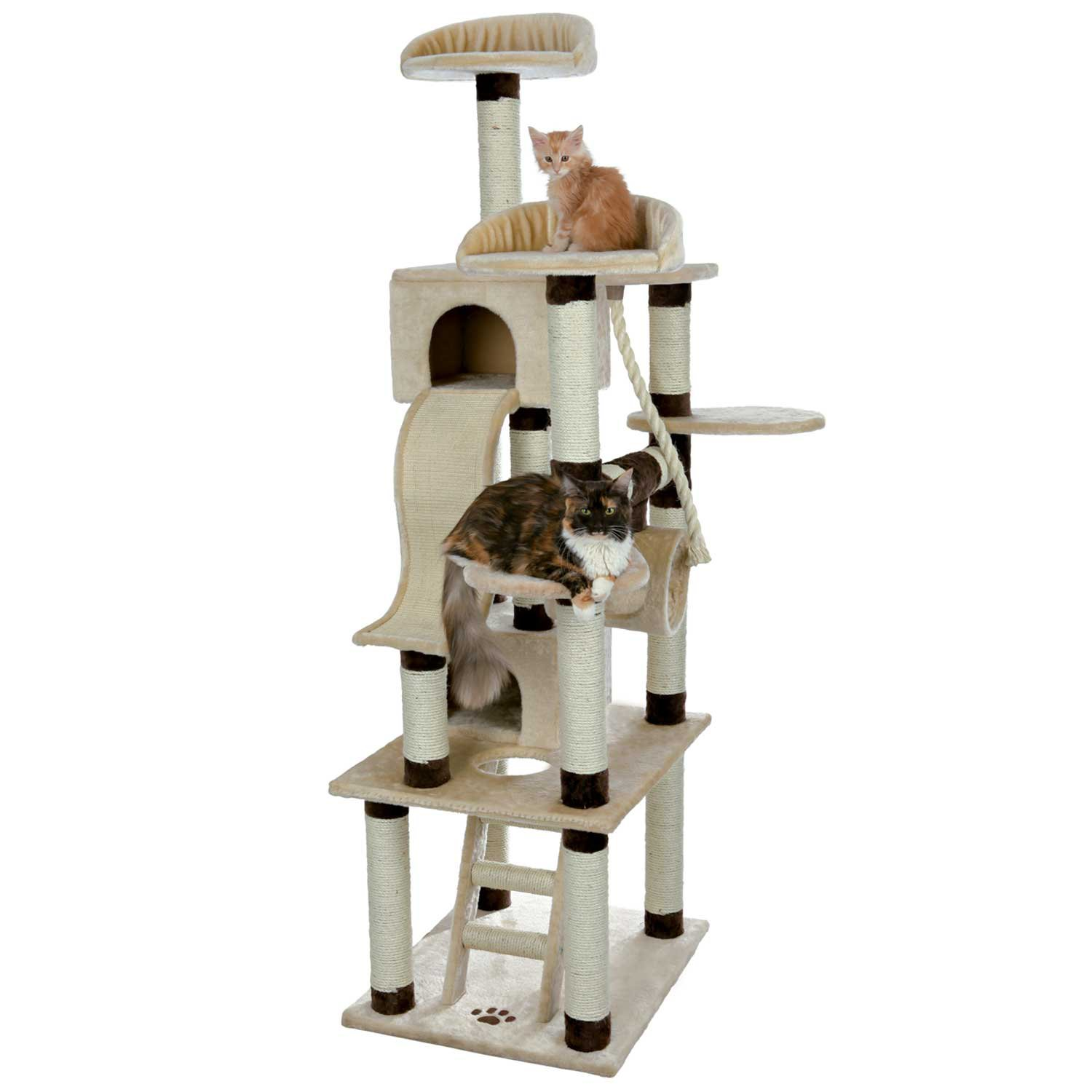 Trixie Adiva Cat Playground in Beige & Chocolate Brown