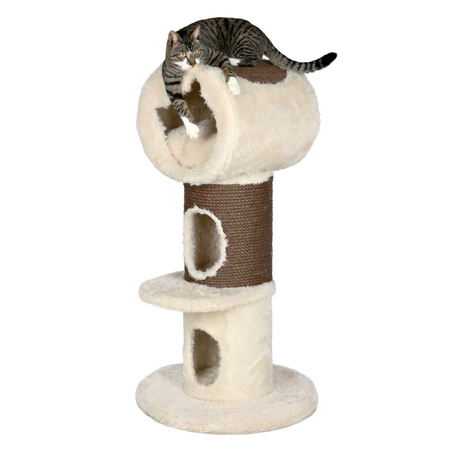 Trixie Nico 3-Story Cat Condo in Beige