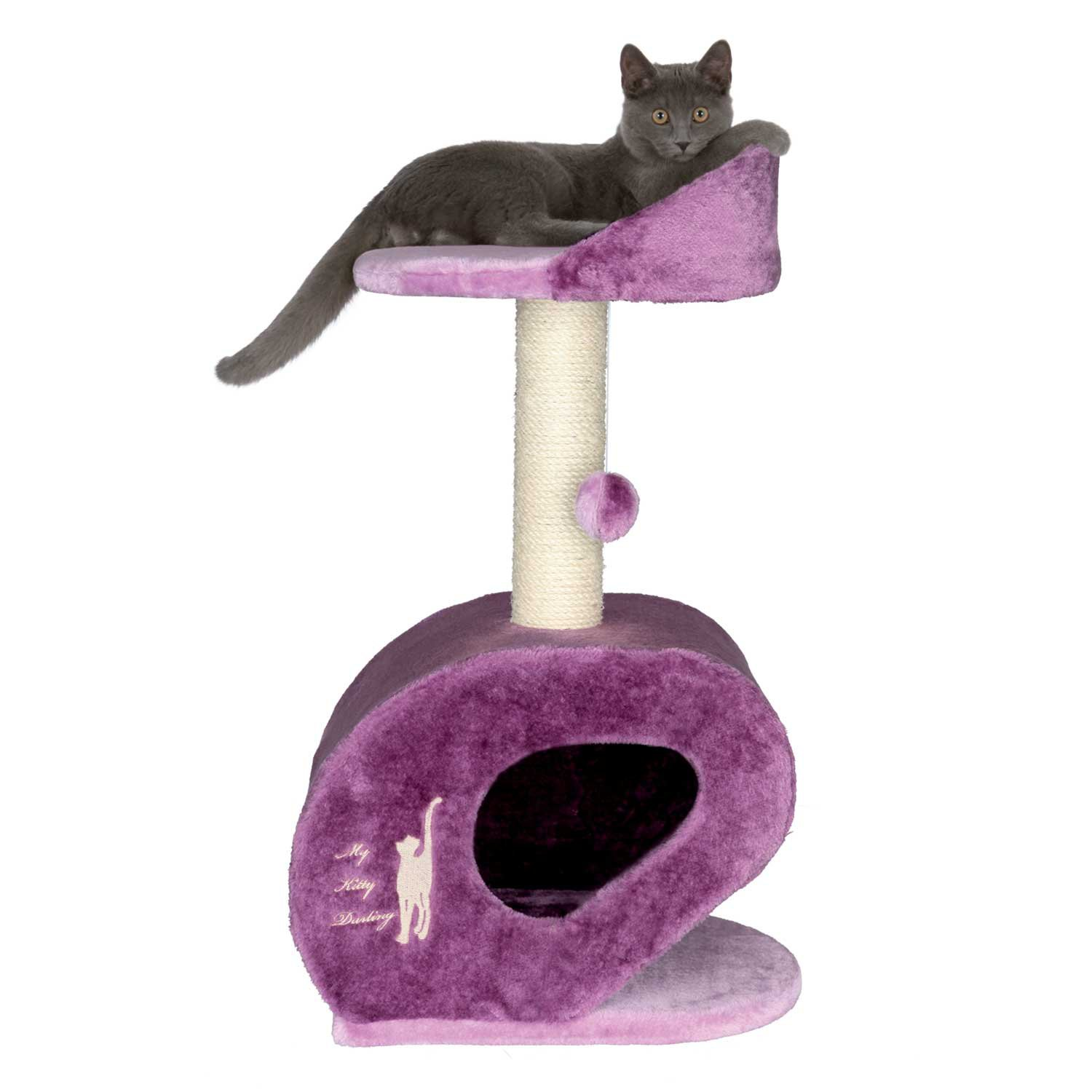 Trixie My Kitty Darling Scratching Post in Purple