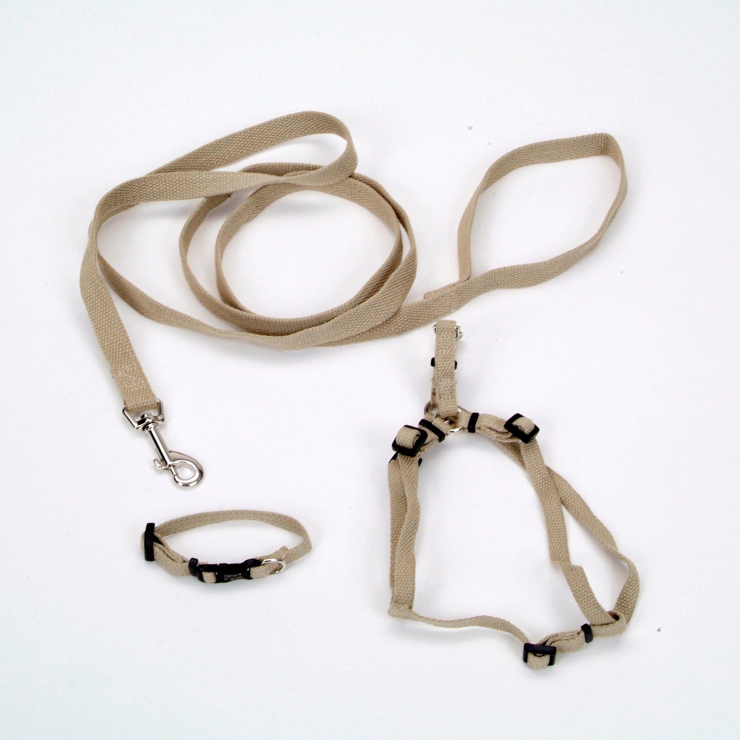 Coastal Pet New Earth 3-Piece Soy Dog Leash Harness and Collar Bundle in Tan