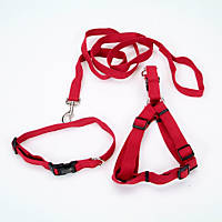 Coastal Pet New Earth 3-Piece Soy Dog Leash Harness and Collar Bundle in Red