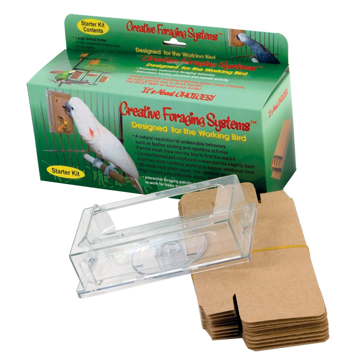 Caitec Creative Foraging Systems Large Foraging Box Starter Kit