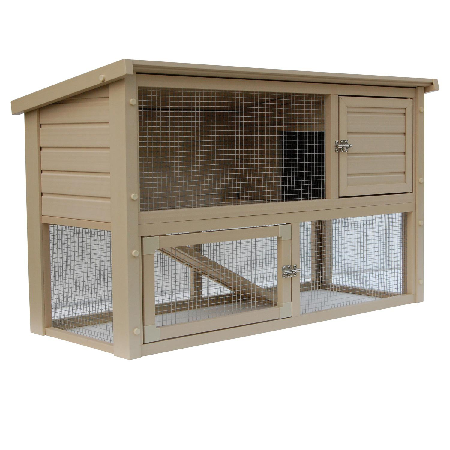 Blue Prints House New Age Pet Eco Concepts Columbia Rabbit Hutch With Pen