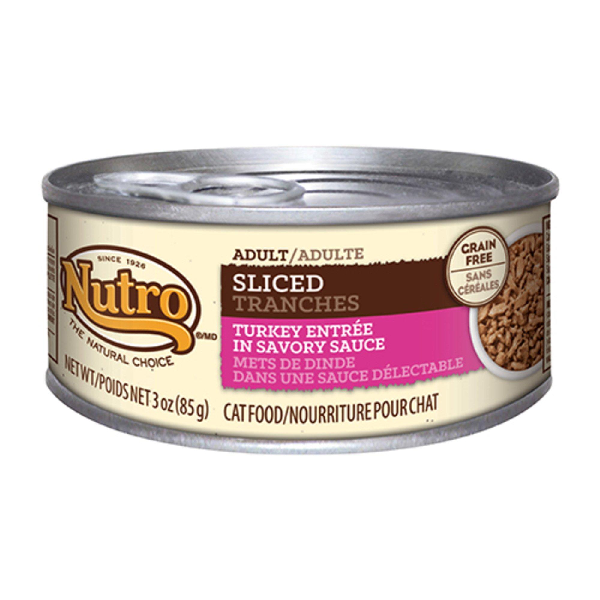 Nutro Sliced Entree Canned Adult Cat Food, Turkey