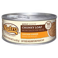 Nutro Chunky Loaf Chicken Dinner Canned Adult Cat Food