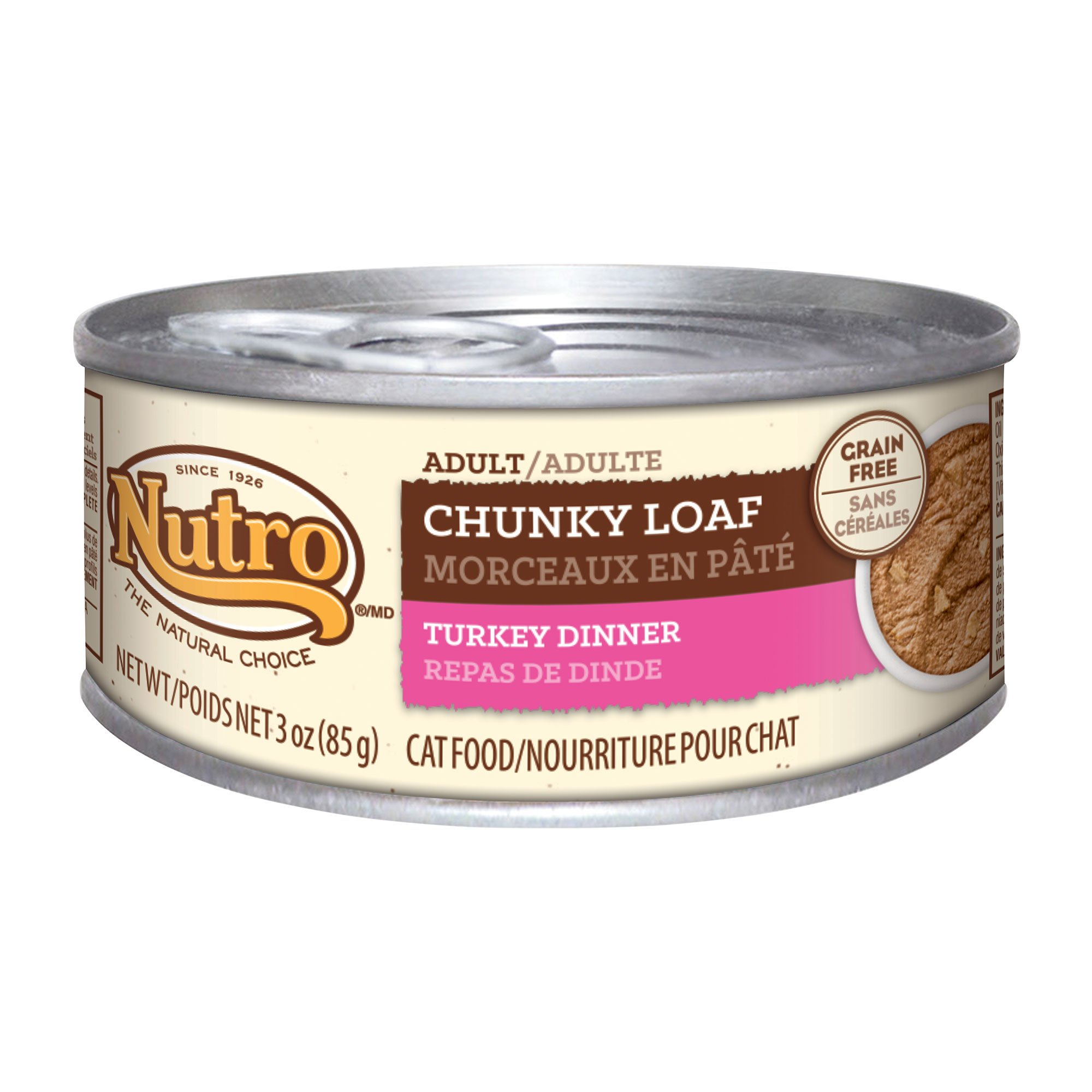 Nutro Chunky Loaf Canned Adult Cat Food, Turkey