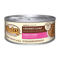 Nutro Natural Choice Chunky Loaf Canned Adult Cat Food, Turkey